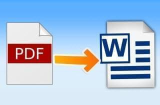 edit pdf in Word