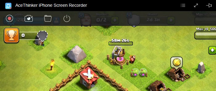 record clash of clans gameplay
