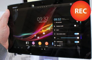record tablet screen