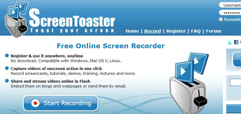 screentoaster screen recorder no download
