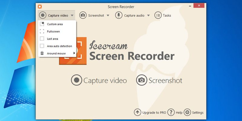 Icecream Screen Recorder capture video