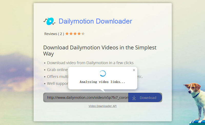 dailymotion downloader analyze