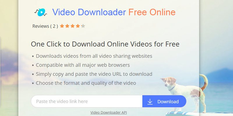 free online video downloader page