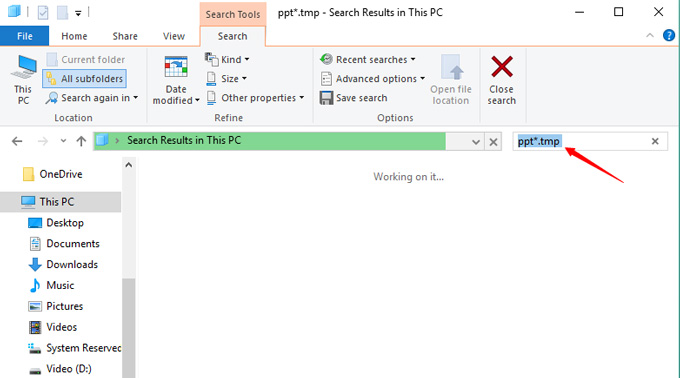 recover PPT from temp folder