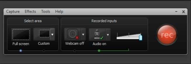 record with camtasia